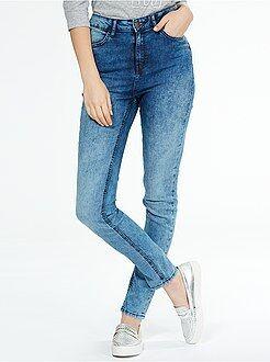 Skinny jeans met superhoge taille - Lengte US32