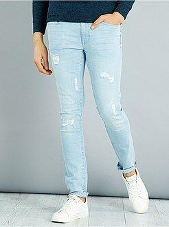 Skinny jeans met versleten plekken - Kiabi