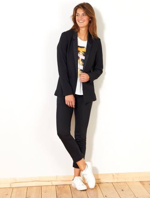 Skinny stretch 7/8e broek                                             zwart Dameskleding