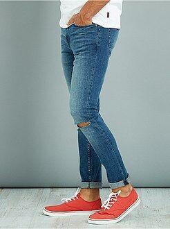 Jeans - Skinny stretch jeans met kniestukken