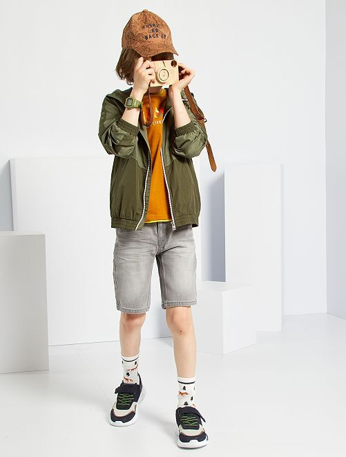 Slim-fit denim short                                                     GRIJS