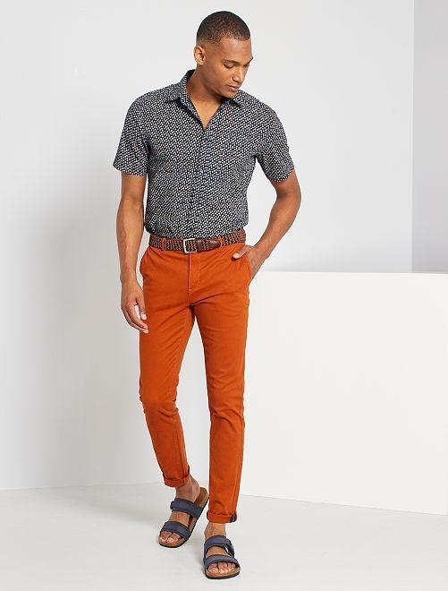 Slim-fit hemd                                                                                                                                             BLAUW