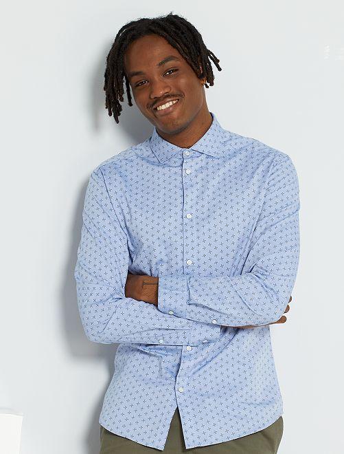 Slim-fit hemd 'Ecodesign'                                                                 BLAUW