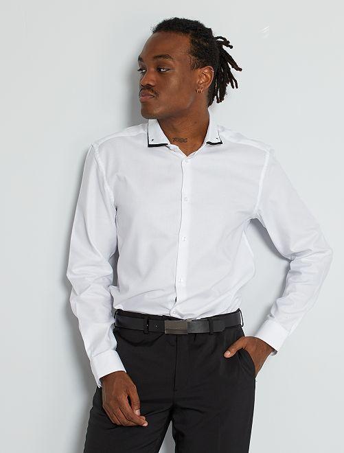 Slim-fit hemd 'Ecodesign'                             wit