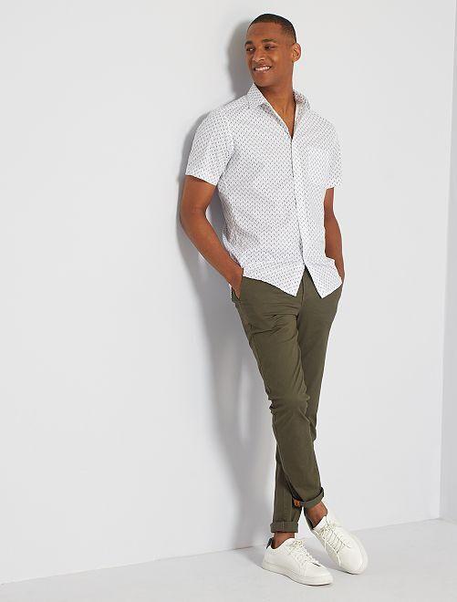 Slim-fit hemd                                                                                                                                                     WIT
