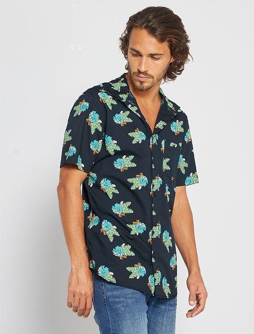 Slim-fit hemd                                                                                                                                                     ZWART