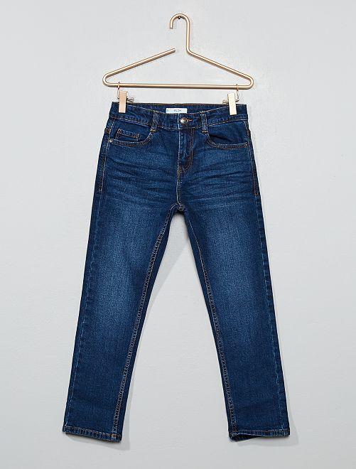 Slim-fit jeans voor volslanke kinderen 'Ecodesign'                                         BLAUW