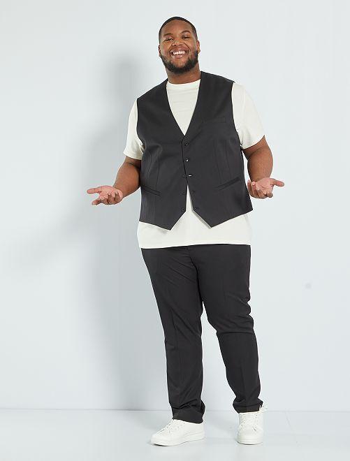 Slim-fit kostuumvest                                                     zwart