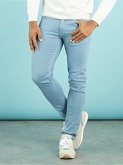 Broek - Slimfit 5-pocket broek van stretch katoen
