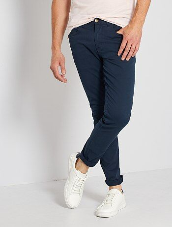 Slimfit 5-pocket broek van twill - Kiabi