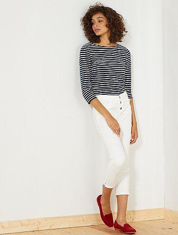 Slimfit 7/8e broek met hoge taille - Kiabi