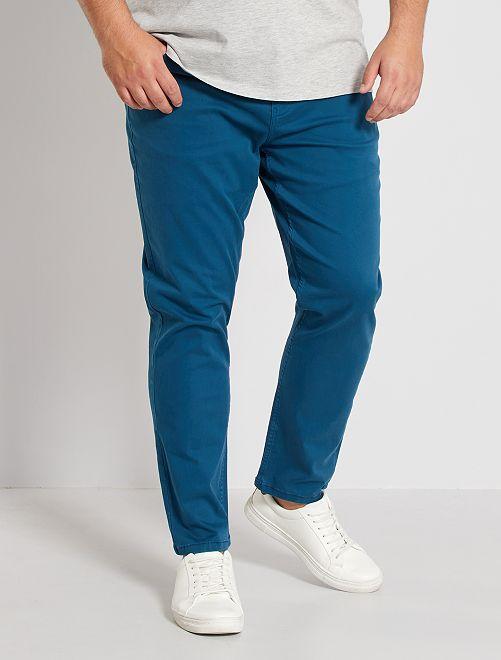 Slimfit broek                                                                                         blauw poseidon