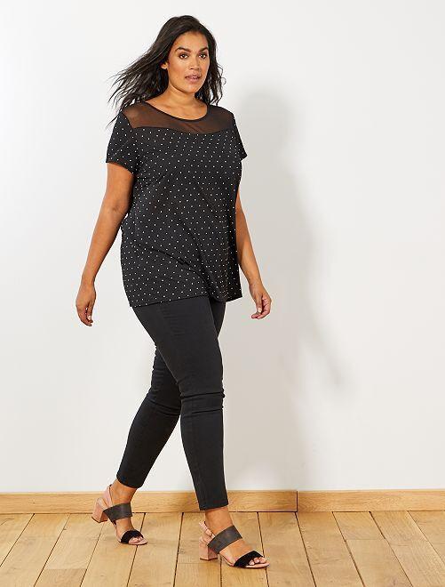 Slimfit broek van stretch gabardine                                 zwart Dames size+