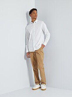 Heren tall (> 190cm) - Slimfit chinobroek van 100% katoen L36 1,90+ - Kiabi