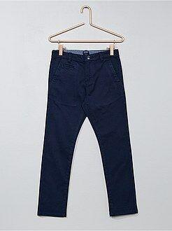 Jongenskleding 3-12 jaar - Slimfit chinobroek van twill - Kiabi