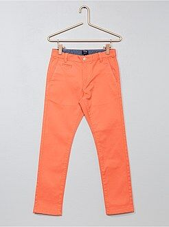 Kinder broeken - Slimfit chinobroek van twill - Kiabi