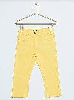 Meisjes broeken - Slimfit driekwartbroek van twill