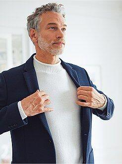 Slimfit jasje van piquékatoen
