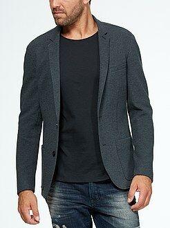 Slimfit jasje van tricot