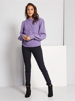 Slimfit jeans met superhoge taille - Lengte US30