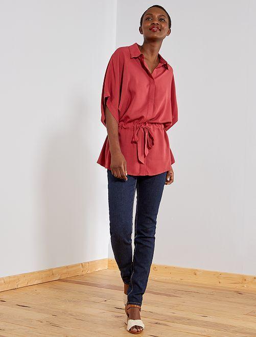 Slimfit jeans met superhoge taille - Lengte US30                                                         blauw Dameskleding