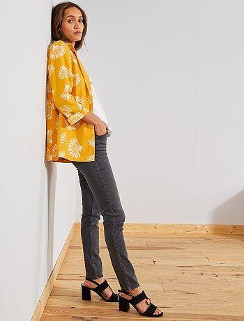 Slimfit jeans met superhoge taille - Lengte US30 - Kiabi