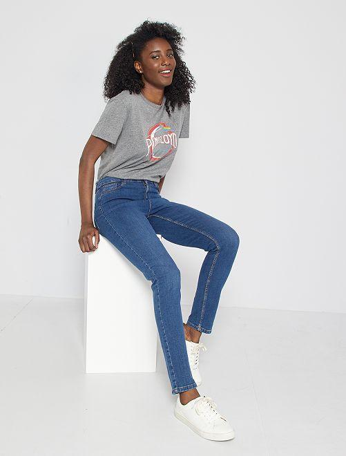 Slimfit jeans met superhoge taille - Lengte US30                                             steen