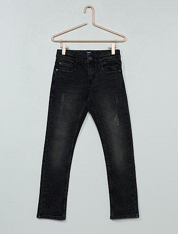 Slimfit jeans met verwassen effect - Kiabi