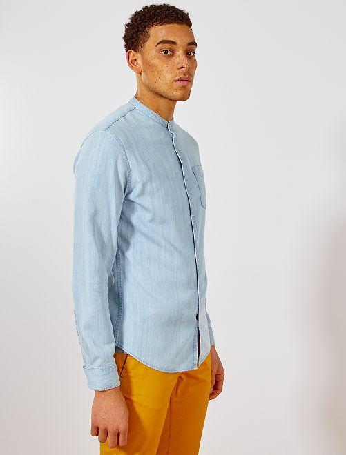 Kiabi Slimfit Maokraag Herenkleding 18 Overhemd Gebleekt 00€ Met jSMUzpGqVL