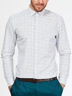 Overhemd - Slimfit overhemd van katoen