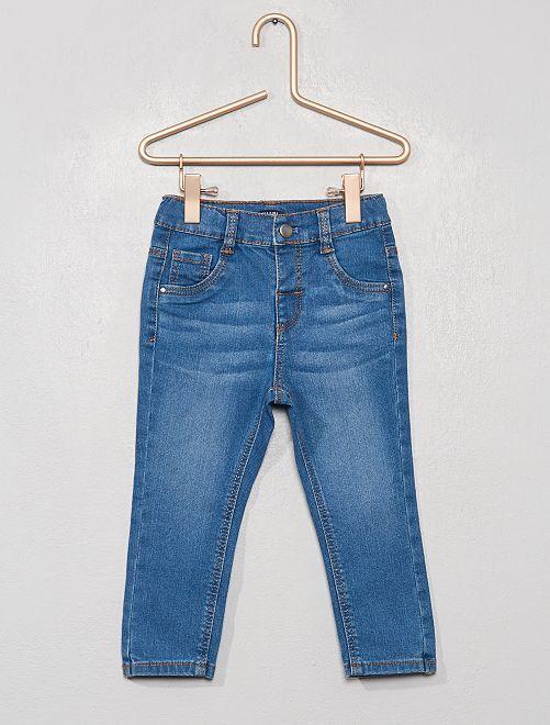 Slimfit stretch jeans                             BLAUW