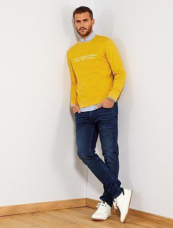 Herenmode maat S-XXL - Slimfit stretch jeans - Kiabi