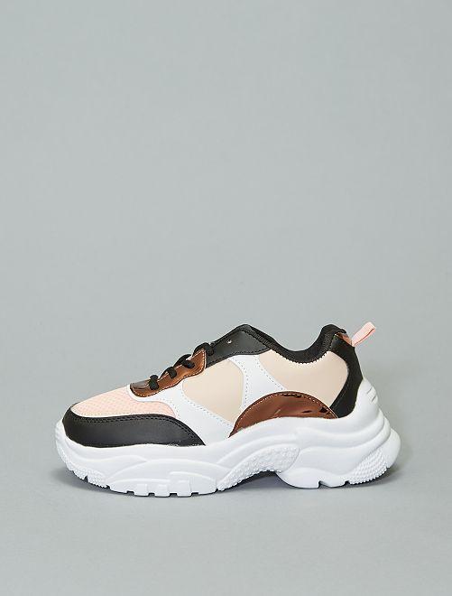 Sneakers met een dikke zool                             meerkleurig Dameskleding