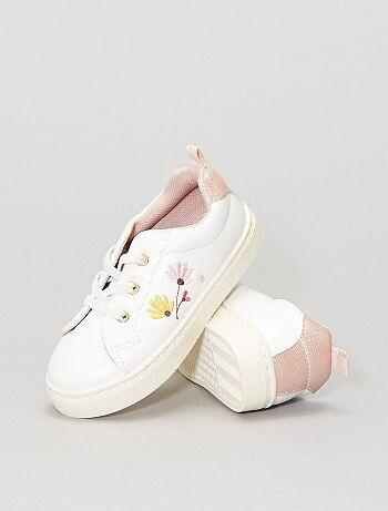 Sneakers met geborduurde bloemen - Kiabi
