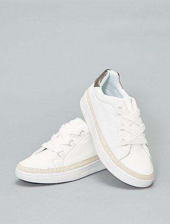 27e44340d78 Schoenen - Sneakers met gevlochten randen - Kiabi