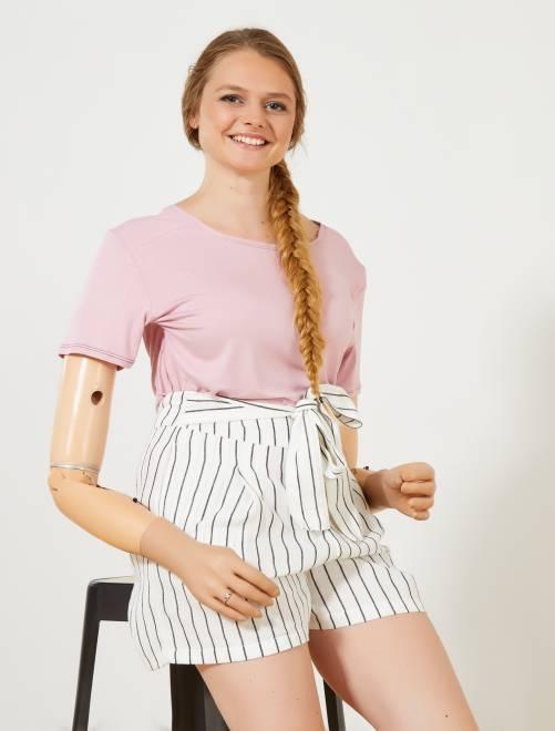 Soepel T-shirt van 'A&K Classics'                                                                 roze