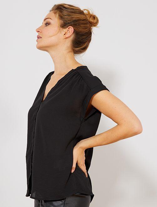 Soepel vallende blouse                                                                             zwart Dameskleding