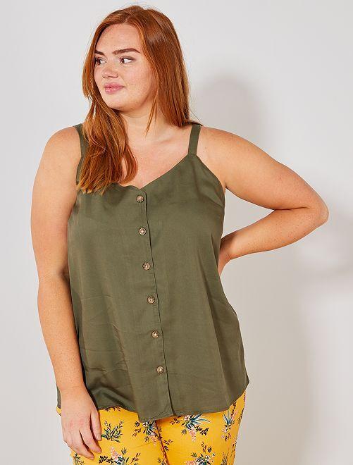 Soepele blouse met knoopsluiting                                                                 KAKI