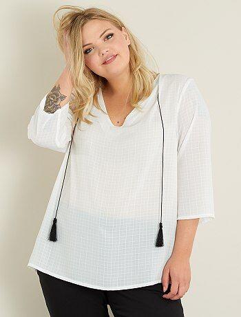 Soepele blouse met kwastjes - Kiabi