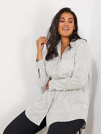 Dames Size+ - Soepele blouse met print - Kiabi