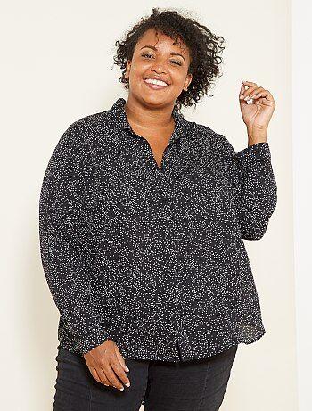 Dames Size+ - Soepele blouse van voile - Kiabi