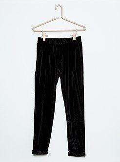 Meisjes broeken - Soepele broek in stretch fluweel