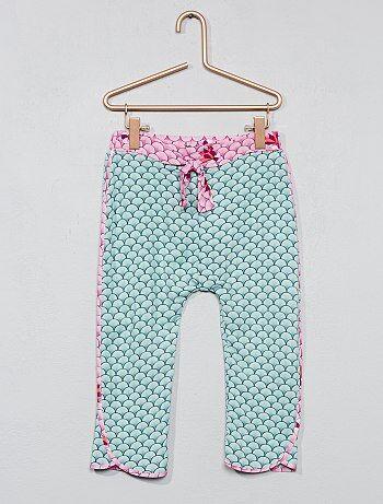 Soepele broek met Japanse print - Kiabi
