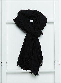 Accessoires - Soepele effen sjaal met franjes - Kiabi
