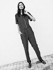 Soepele jumpsuit met pyjamalook
