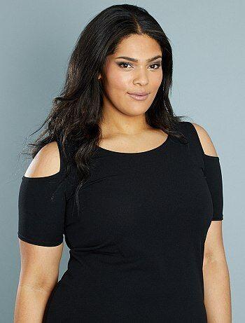 Dames Size+ - Soepele jurk met blote schouders - Kiabi