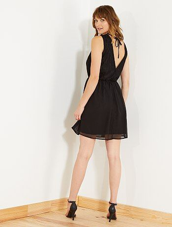 Soepele jurk met kant - Kiabi