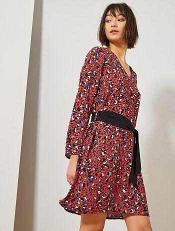 3f50310e90584d Damesmode maat 34-48 - Soepele jurk met luipaardprint - Kiabi