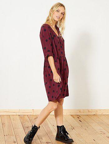 Soepele jurk met stippen - Kiabi