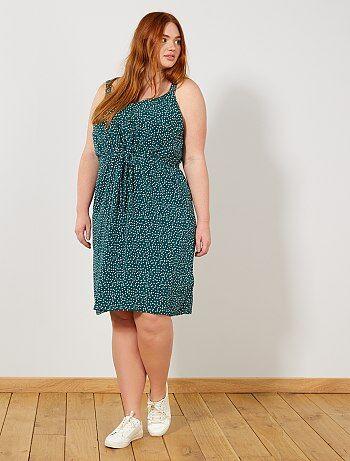 95ca3844d9a5c9 Soepele jurk met stippenprint - Kiabi